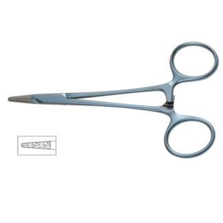 """Titanium Halsey Needle Holder, 5""""(12.5cm), Micro Onyx-Jaw"""