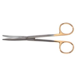 "Mayo Onyx Scissors, 6-3/4""(17cm), Curved"