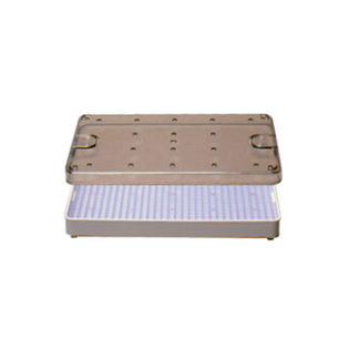 """Sterilization Tray w/ Clear Lid And Silicone Mat 4"""" x 8"""" x .75"""""""