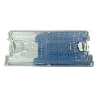 "Sterilization Case Single-Level 9"" x 18"" x 2"", Lid, Silicone Mat"