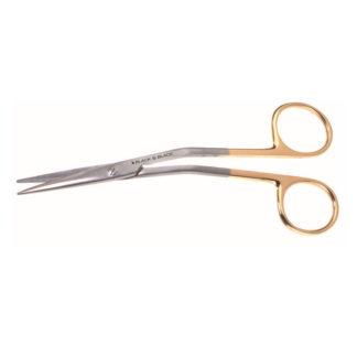 "Fomon Serrated Onyx Scissors, 5-1/2""(14cm), Angled"