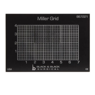 Miller Cartilage Grid, Aluminum, Black With Traction Pad