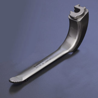 "Lumiview ""Mini"" Retractor Blade, 3/4""(20mm) x 4""(10cm), With Suction, With Serrations"